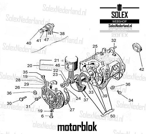 Exploded view Solex blok