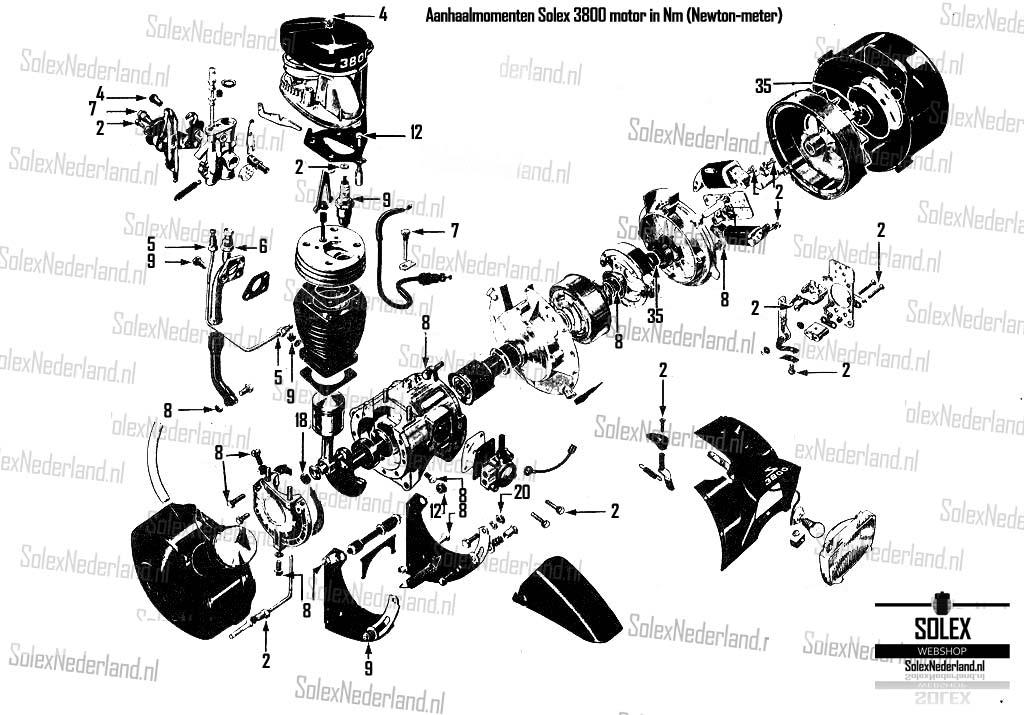 Solex technische tekening motor