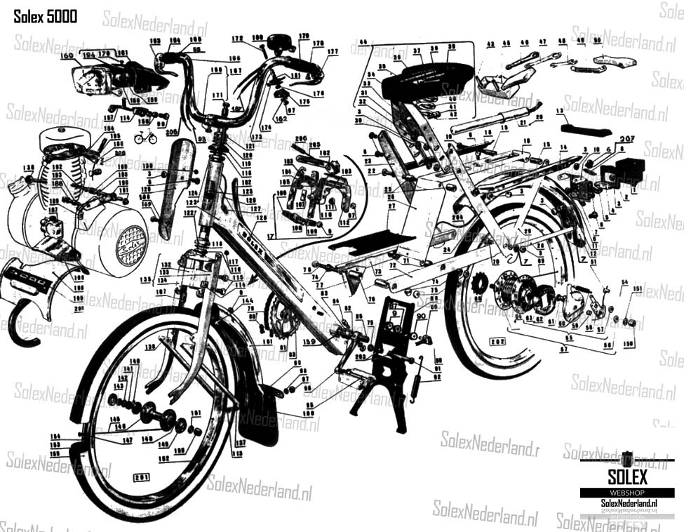 Solex 5000 Exploded view