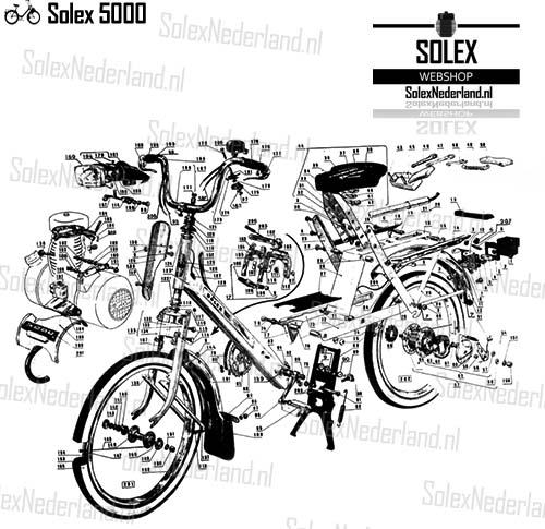 Solex 5000 onderdelen Frame