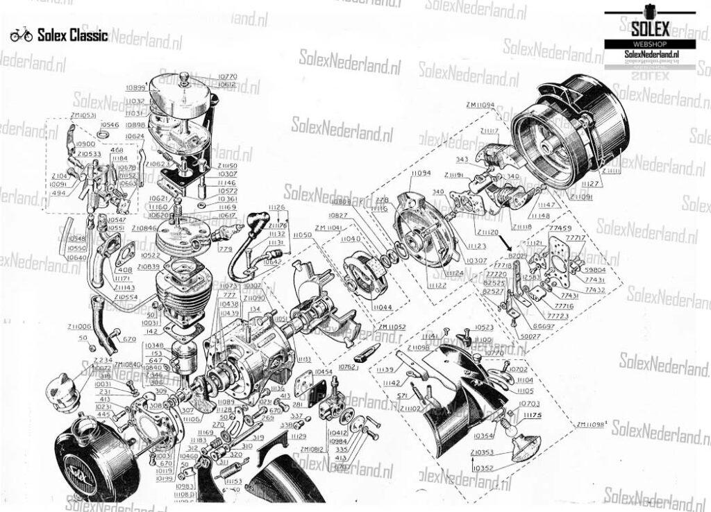 Solex Motor met koppeling