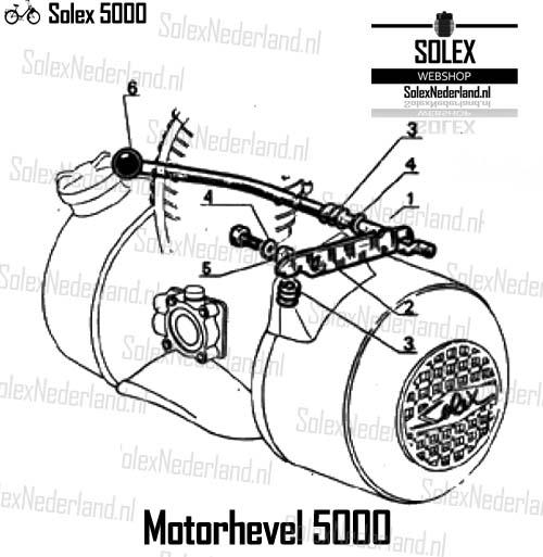 Solex 5000 onderdelen motorhevel