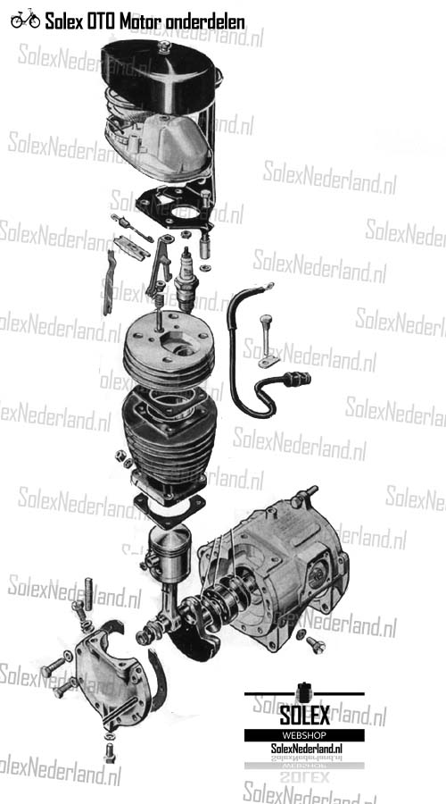 Exploded View Solex 2200