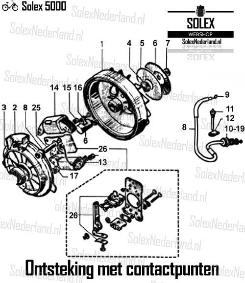 Ontsteking-Solex-3800-contactpunten