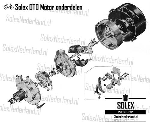 Solex 2200 koppeling rolunit ontsteking