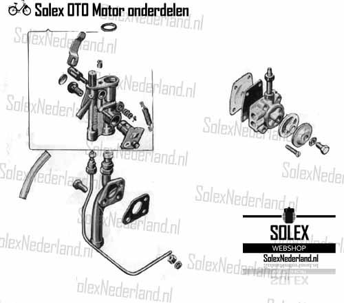 Solex OTO Carburateur Brandstofpomp