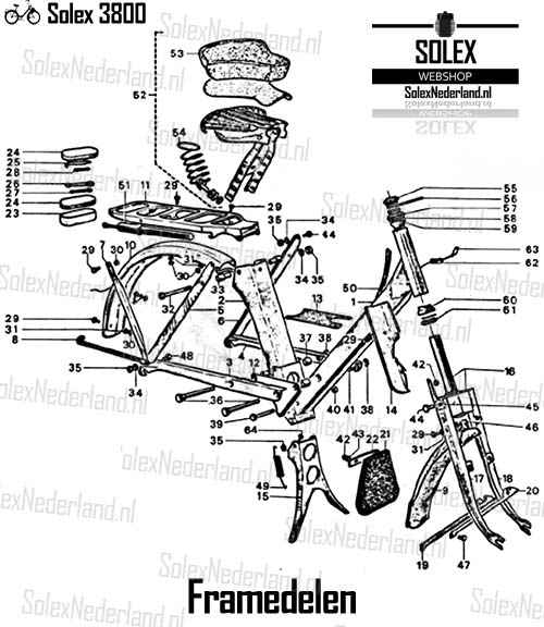 Solex 3800 onderdelen Frame