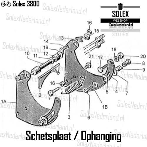 Solex 3800 onderdelen Schetsplaat