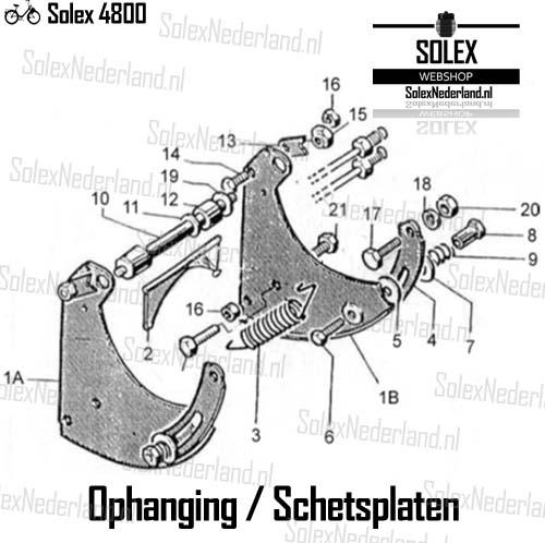 Solex 4800 onderdelen ophanging schetsplaten