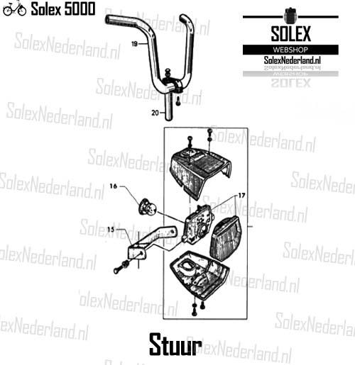 Solex 5000 onderdelen stuur