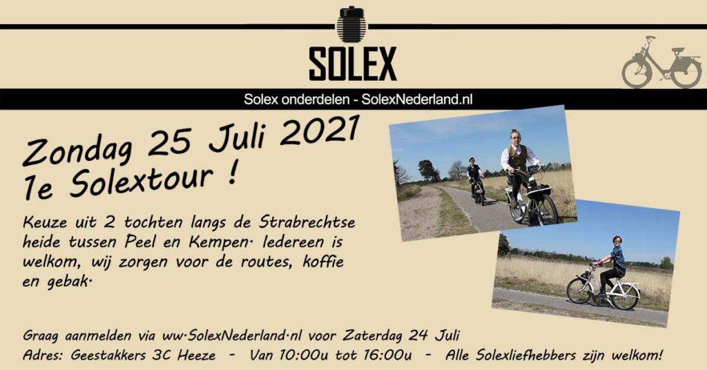 Solex tour tocht 2021 op 25 Juli